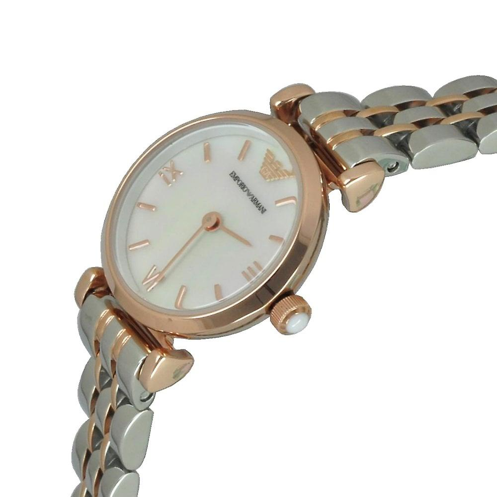 Armani Watches Ar1764 Silver & Rose Gold Ladies Watch