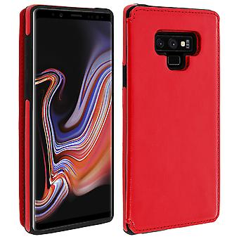 Samsung Galaxy Note 9 Shockproof Case, Card Holder Wallet, Forcell, Red