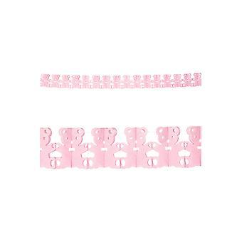 Part favoriserer Pink bjørne dekoration garland 3m baby brusebad
