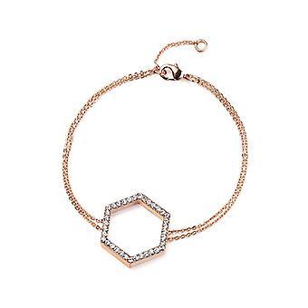 Kaytie Wu Rose Gold Plated Hexagon Bracelet With Swarovski Crystals 28043
