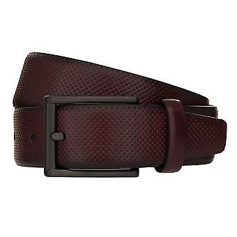 MONTI DUBLIN Belt Men's Belt Leather Belt Bordeaux 8036
