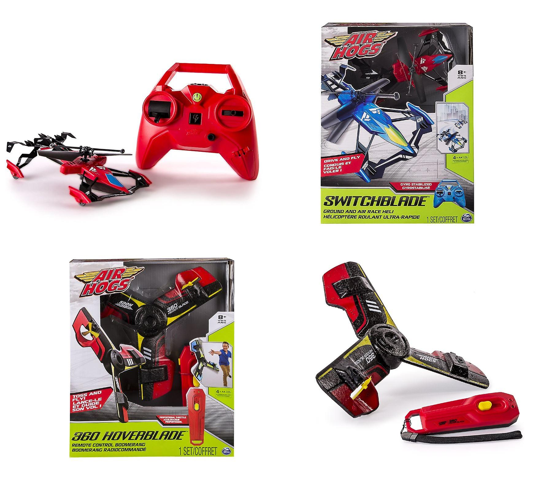Spin Master Bundle Air Hogs Switchblade & Air Hogs 360 Hoverblade Boomerang 2 Oggetti
