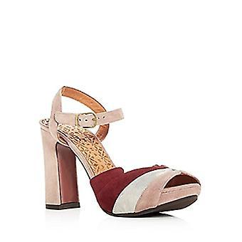 Chie Mihara Women's Candel Suede High Block Heel Platform Sandals Nude Size 6...