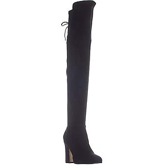 Marc Fisher Neela Over The Knee Back Lace Boots, Black Texture, 5 États-Unis