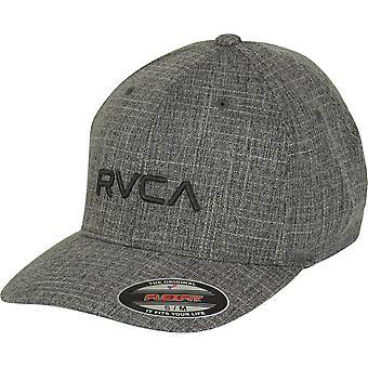 RVCA VA Sport Mens RVCA Flex Fit Hat - Charcoal/Black
