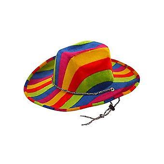 Rainbow Pride Felt Cowboy Cappello - SOLO 1 DISPONIBILE
