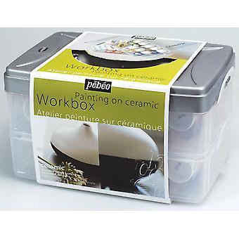 Pebeo Ceramic Paint Workbox 10 x 45ml