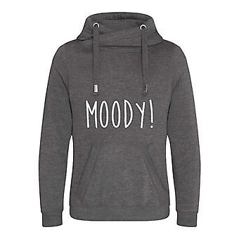 Moody Cross Neck Hoodie