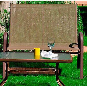Wellindal Textile steel sofa 2 seats macao 2 bronze (Garden , Others)