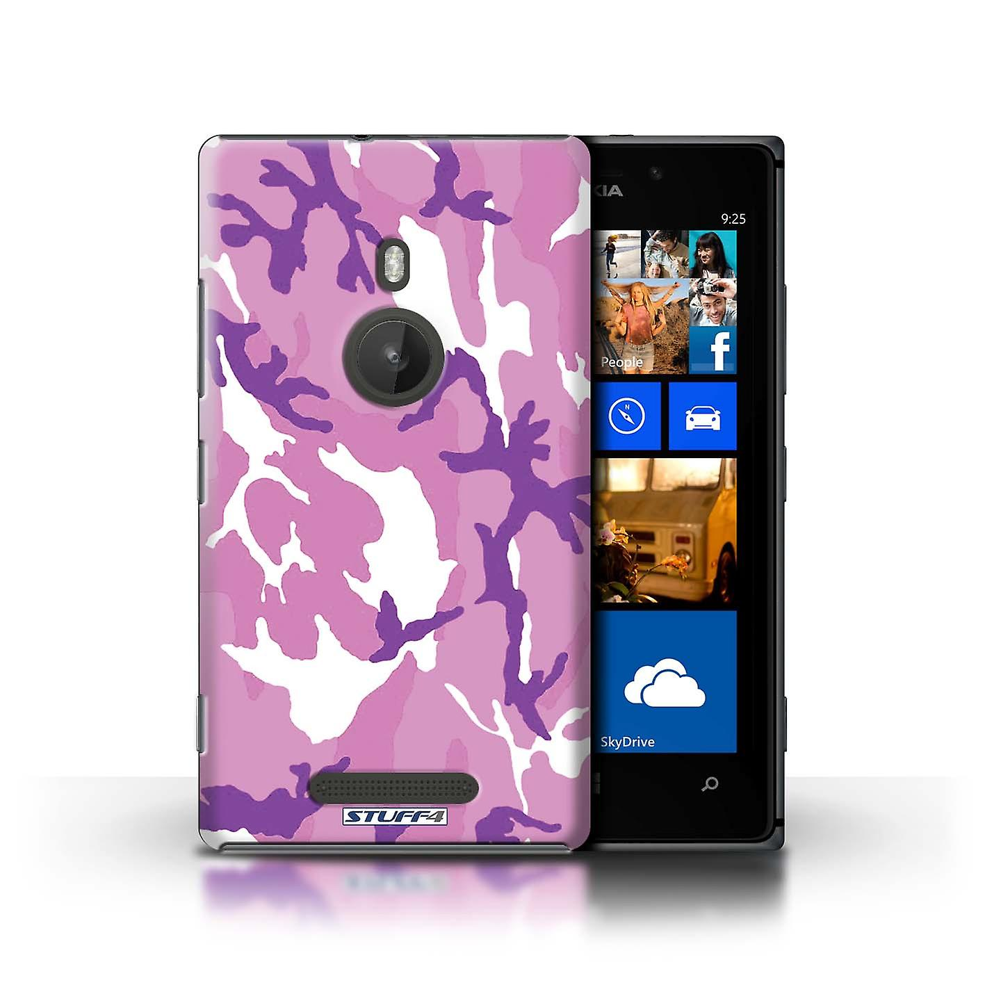 STUFF4 Case/Cover for Nokia Lumia 925/Pink 4/Camouflage Army Navy