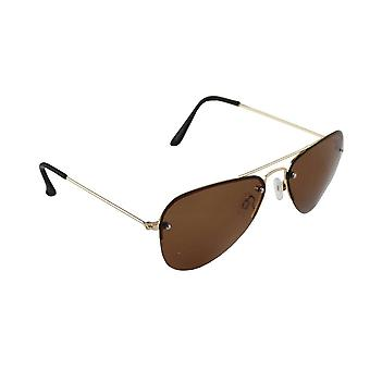 Sunglasses Men and Sunglasses Women Polarized Pilot - Brown with free brillenkokerS312_2