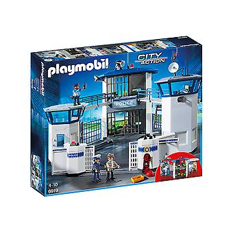 Playmobil 6919 City Action Police Headquarters With Prison Playset