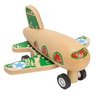 Pullback Flugzeug Holz