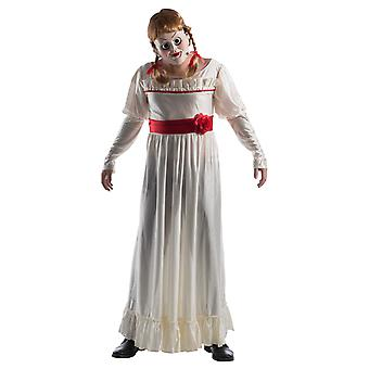 Mens Annabelle docka Halloween den Conjuring filmen fancy dress kostym