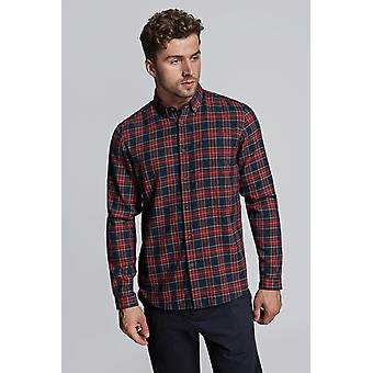 Hymn Brucey Brushed Check Cotton Shirt Red