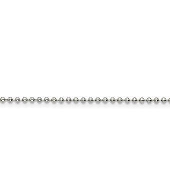 Stainless Steel Polished Fancy Lobster Closure 2.0mm Ball Chain Necklace - Length: 16 to 30