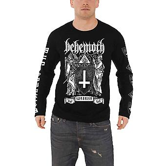 Behemoth T Shirt The Satanist band logo Official Mens New Long Sleeve Shirt