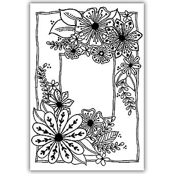 Julie Hickey A6 Stamp - Fabulously Floral