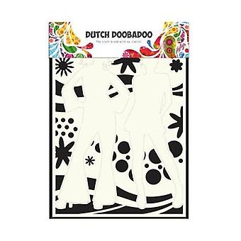Dutch Doobadoo Mask Stencil - A4 Dancing Power #715802