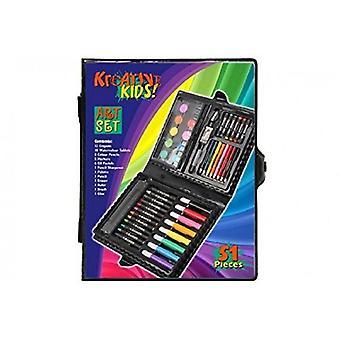 51 piezas arte en Display Box Set crayones más agudo lápiz color sistema del borrador