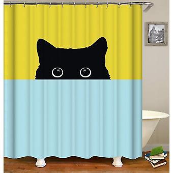 Shy Cat Shower Curtain