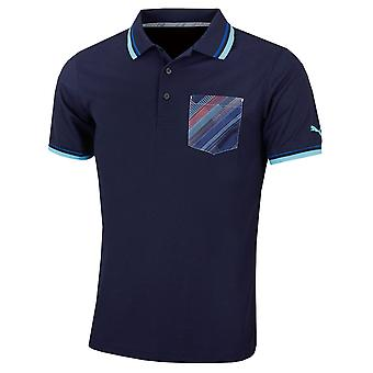 Puma Golf Mens Pixel Pocket DryCELL Moisture Wicking Polo Shirt
