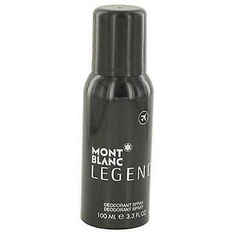 Montblanc Legend door Mont Blanc Deodorant Spray 3,3 oz (mannen) V728-530994