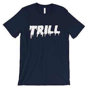 365 印刷トリルメンズネイビー楽しい愛する支持的なTシャツギフトボーイフレンド