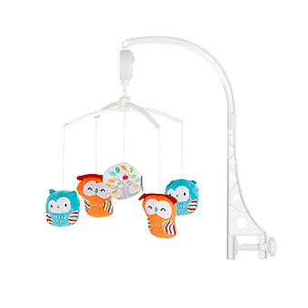Chipolino Music Mobile Owls, for Cot, Running Stable Music Turning Mechanism