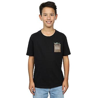 Star Wars jongens de Mandalorian kostbare Cargo faux Pocket T-shirt