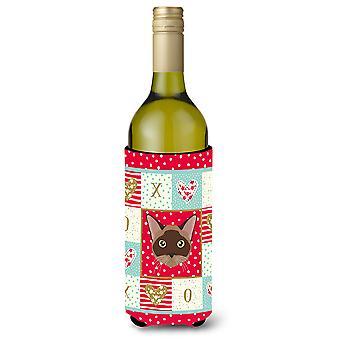 Burmese Cat Wine Bottle Beverage Insulator Hugger