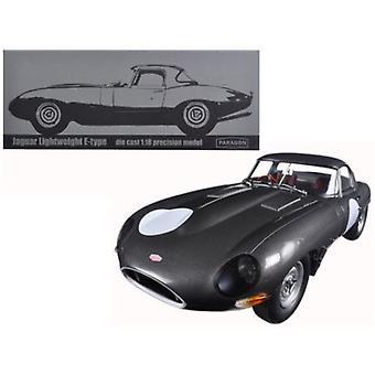 Jaguar Lightweight E-Type Continuation Gunmetal 1/18 Diecast Model Car par Paragon
