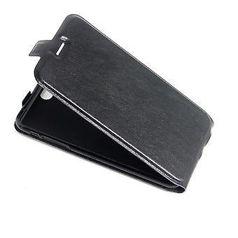 Para iPhone 8 PLUS, 7 PLUS Caso, elegante vertical Flip Durable cuero cubierta, negro