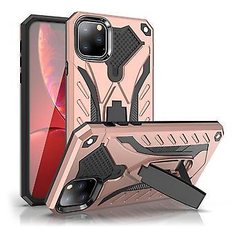 עבור iPhone 11 מקסימום Pro מארז, שריון חזק שוקרת כיסוי הוכחה בעיטות, רוז גולד