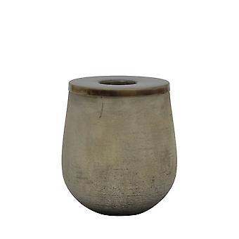 Light & Living Tealight 12x15cm - Kinzo Gold And Lid Antique Bronze