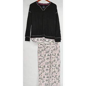 Cuddl Duds Kvinner & apos;s Pyjamas Sett Trøsteklær Nyhet Pyjamas Elfenben A310293