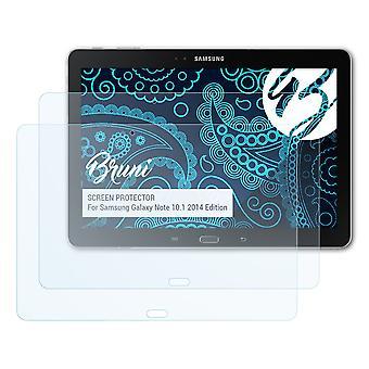 Bruni 2x Película Protectora compatible con Samsung Galaxy Note 10.1 2014 Edition Lámina Protectora