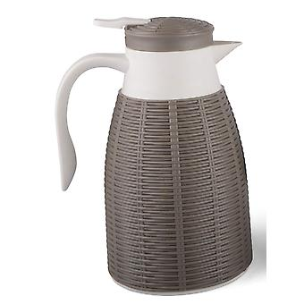 Termosskannaus Raita harmaanruskea kahvipannu