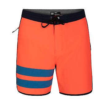Hurley Phantom Block Party 18 Mid Length Boardshorts in Bright Crimson