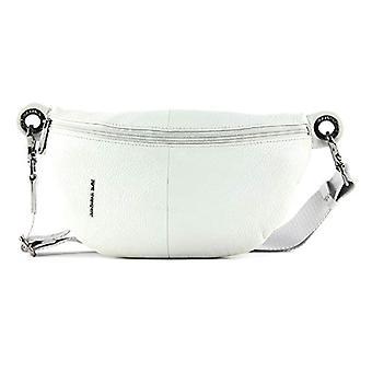 Mandarin Duck Mellow Leather Bum Bag Grey Woman Strap Bag (Mist) 10x16x30 cm (W x H x L)