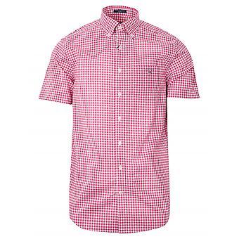 GANT GANT Raptura Rosa Cheque Camisa de manga corta regular