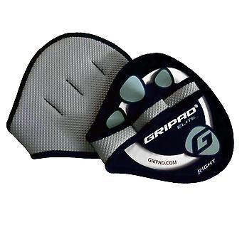 GripAd Elite haltérophilie Grip gants - noir/bleu