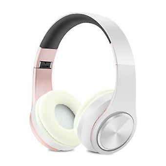 ZAPET Wireless Headphones Bluetooth Wireless Headphones Stereo Gaming Pink-White