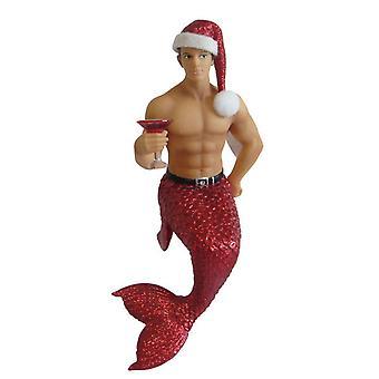 December Diamonds Merry Christmas Red Hot Jingle Merman Holiday Ornament