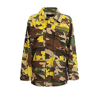 Ermanno Scervino Cp26fac37167 Women's Camouflage Cotton Shirt