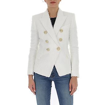 Balmain Tf17110x3190fa Women's White Cotton Blazer