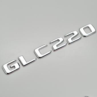 Silver Chrome GLC220 Flat Mercedes Benz Car Model Numbers Letters Badge Emblem For GLC Class X253/C253 AMG