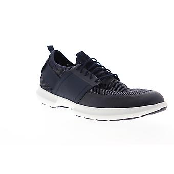 Geox U Traccia Mens Blue Canvas Low Top Lace Up Euro Sneakers Shoes