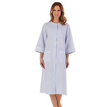 Slenderella HC55226 Women's Striped Robe Dressing Gown