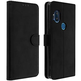 Slim Case, flip book cover, stand wallet case for Motorola One Hyper - Black